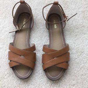 ALDO cognac leather sandals size 8